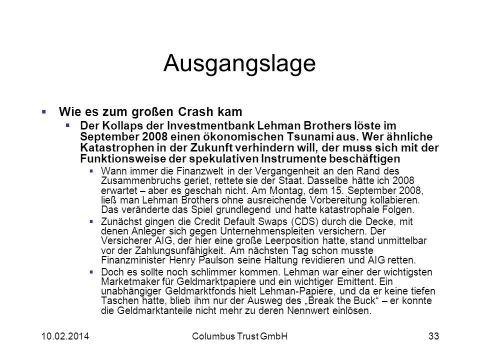 Ausgangslage Wie es zum großen Crash kam Der Kollaps der Investmentbank Lehman Brothers löste im September 2008 einen ökonomischen Tsunami aus. Wer äh