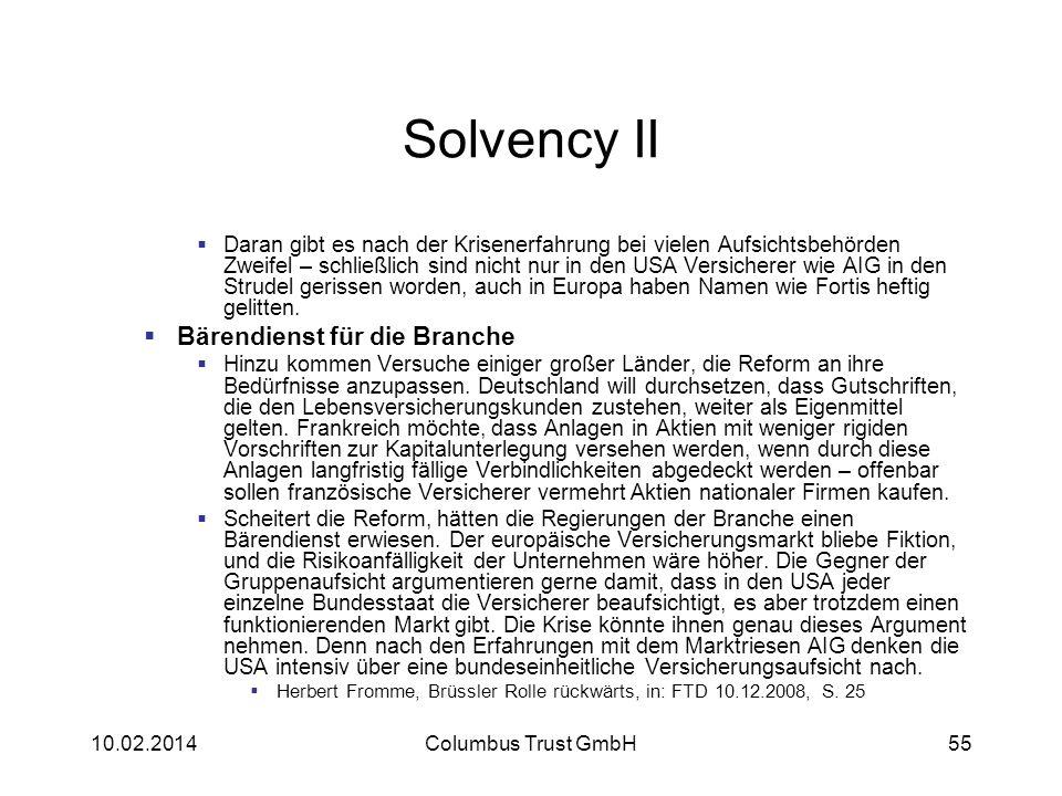 Solvency II Daran gibt es nach der Krisenerfahrung bei vielen Aufsichtsbehörden Zweifel – schließlich sind nicht nur in den USA Versicherer wie AIG in