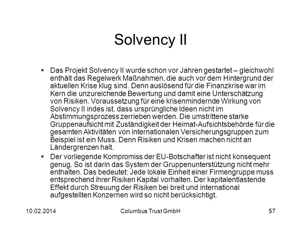 Solvency II Das Projekt Solvency II wurde schon vor Jahren gestartet – gleichwohl enthält das Regelwerk Maßnahmen, die auch vor dem Hintergrund der ak