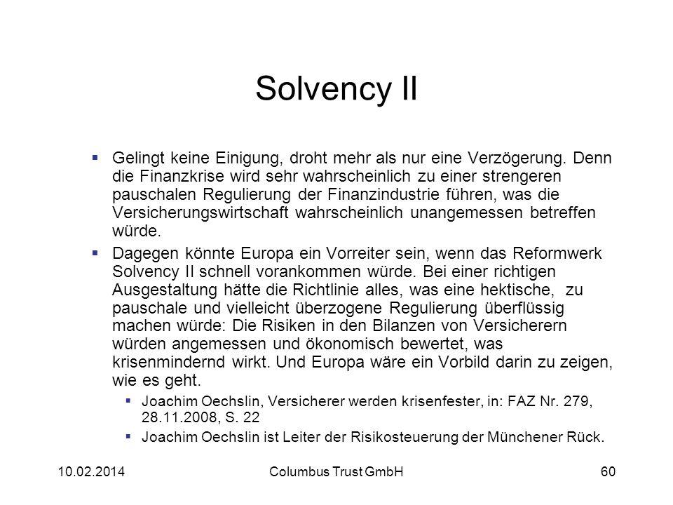 Solvency II Gelingt keine Einigung, droht mehr als nur eine Verzögerung. Denn die Finanzkrise wird sehr wahrscheinlich zu einer strengeren pauschalen