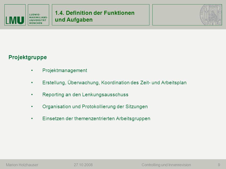 Marion Holzhauser 10 Arbeitsgruppen themenzentriert (FSVQIS, Personal/DIAPERS, Leistungsrechnung..) temporär oder auf Dauer Erarbeiten Lösungen und Umsetzungen Bericht über Leitung an die Projektgruppe 1.4.