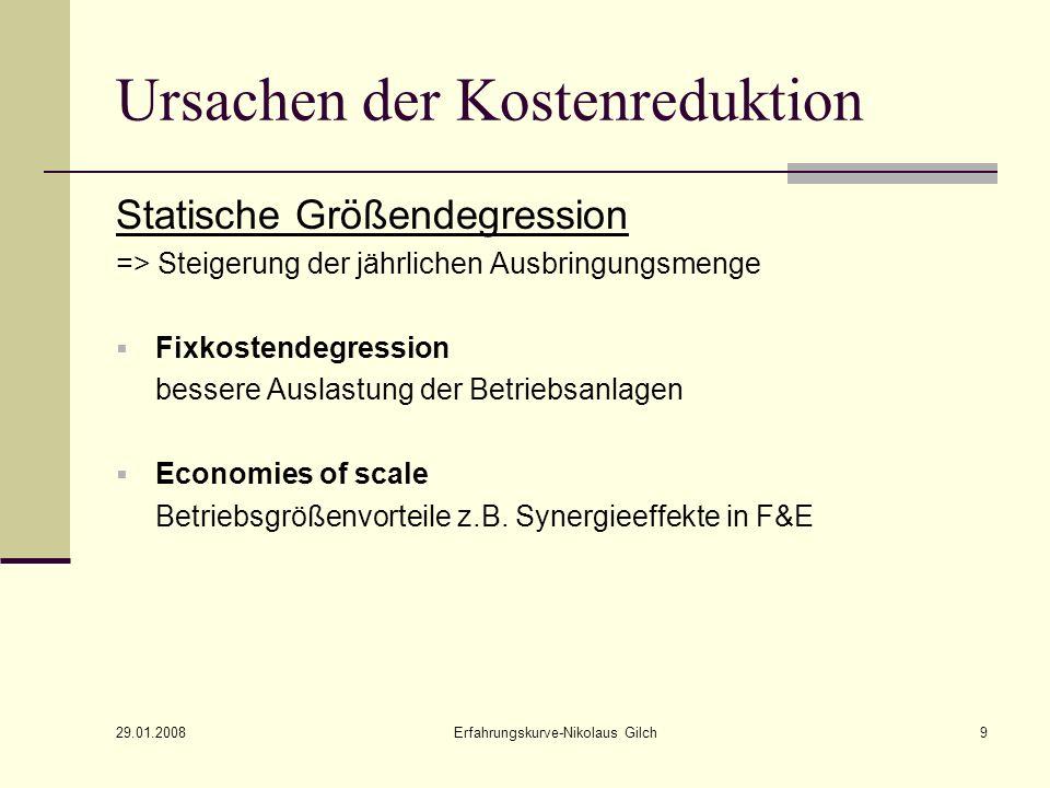 29.01.2008 Erfahrungskurve-Nikolaus Gilch10 Unternehmensstrategien Wachstumsstrategie Preisstrategie bei Produkteinführung