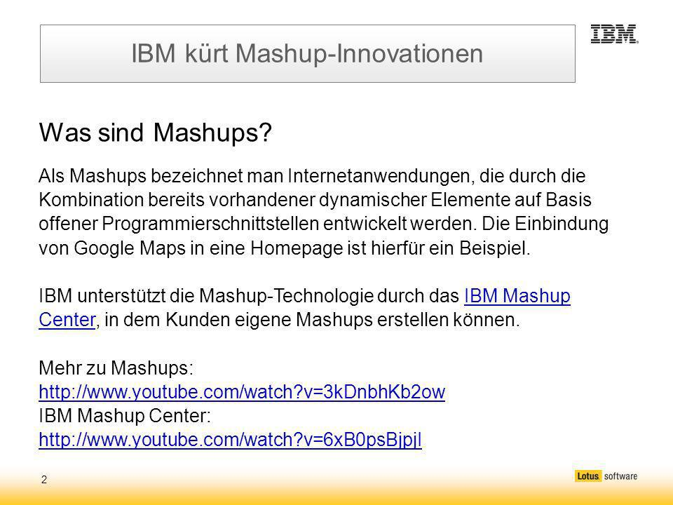 2 IBM kürt Mashup-Innovationen Was sind Mashups.