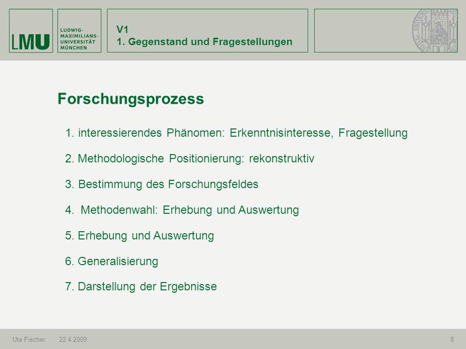 V1 2.Programm und Arbeitsweise Ute Fischer22.4.20099 Programmübersicht I.