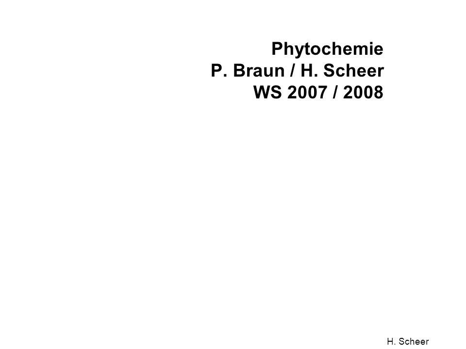 H. Scheer Phytochemie P. Braun / H. Scheer WS 2007 / 2008