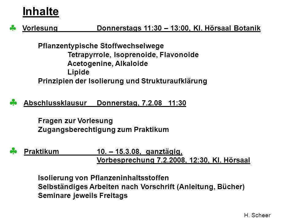 H. Scheer Polyketide: Griseofulvin Aus D.E.Metzler: Biochemistry Academic Press, 2003