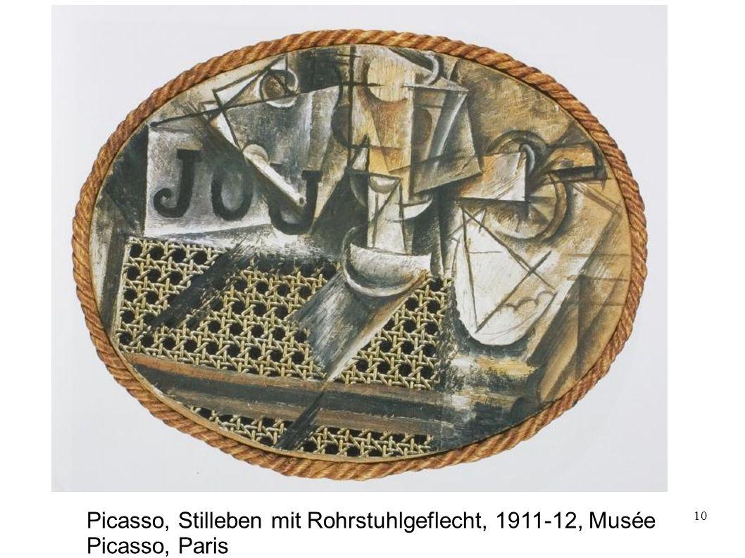 10 Picasso, Stilleben mit Rohrstuhlgeflecht, 1911-12, Musée Picasso, Paris