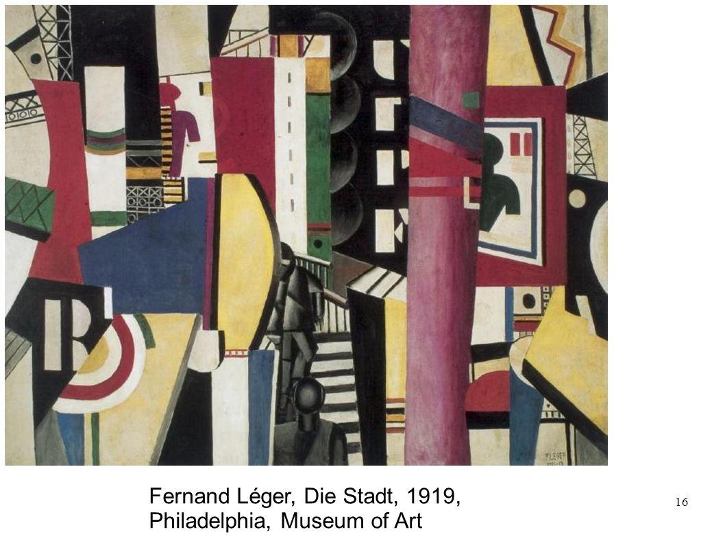 16 Fernand Léger, Die Stadt, 1919, Philadelphia, Museum of Art