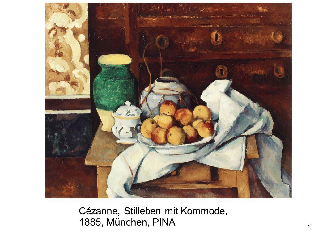 6 Cézanne, Stilleben mit Kommode, 1885, München, PINA