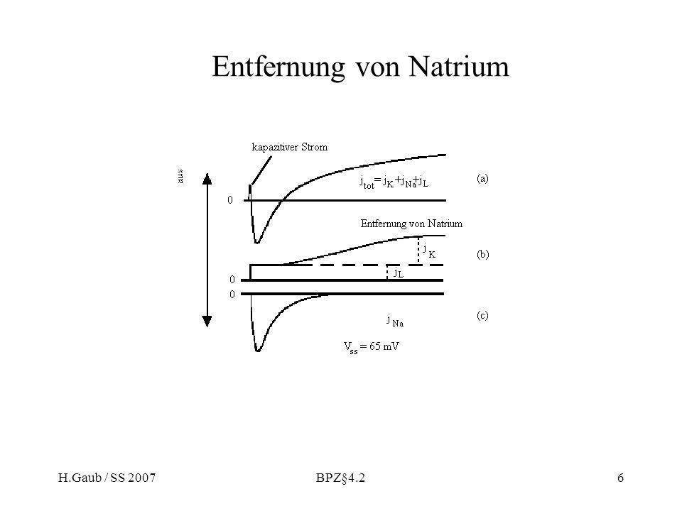 H.Gaub / SS 2007BPZ§4.26 Entfernung von Natrium