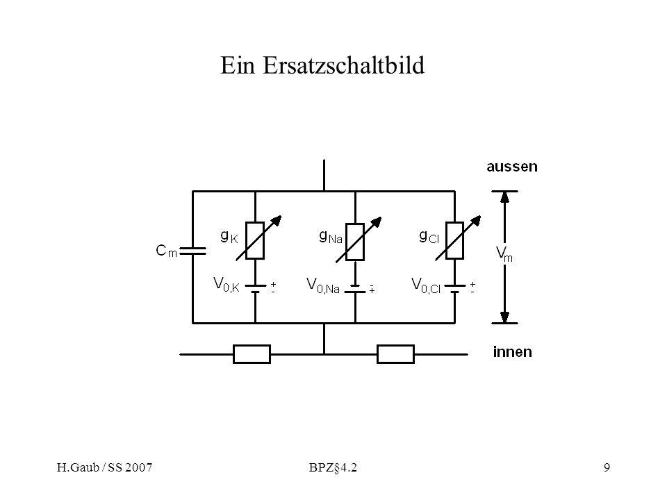H.Gaub / SS 2007BPZ§4.29 Ein Ersatzschaltbild