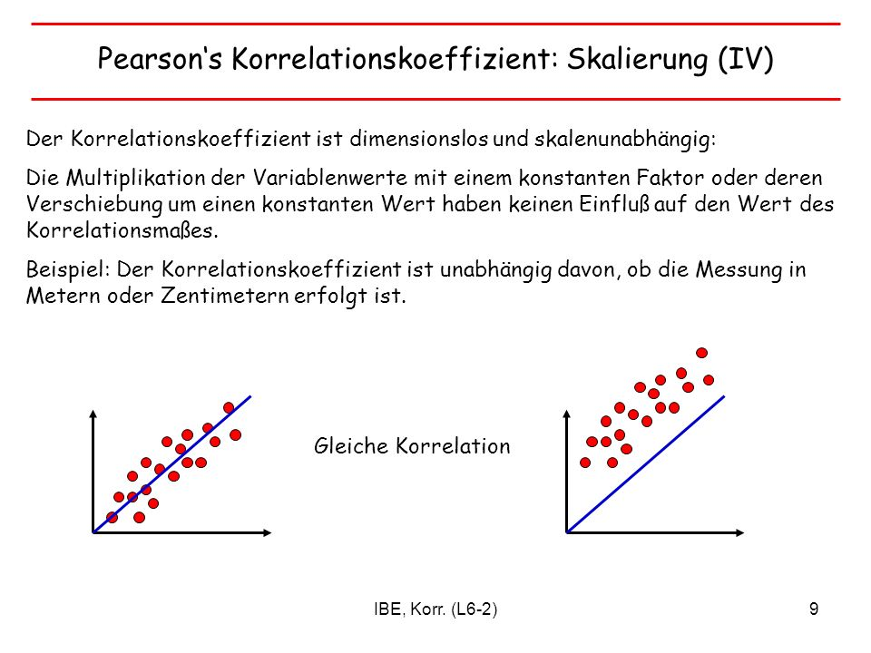 IBE, Korr.(L6-2)40 Quiz Wann kann Regression zum Mittelwert auftreten.
