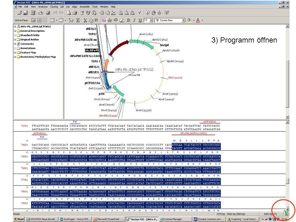 4) Programm Anwendung Datenbanken: Speicherung auf lokalem Computer zunächst jedes Labor 1 VNTI Computer incl.