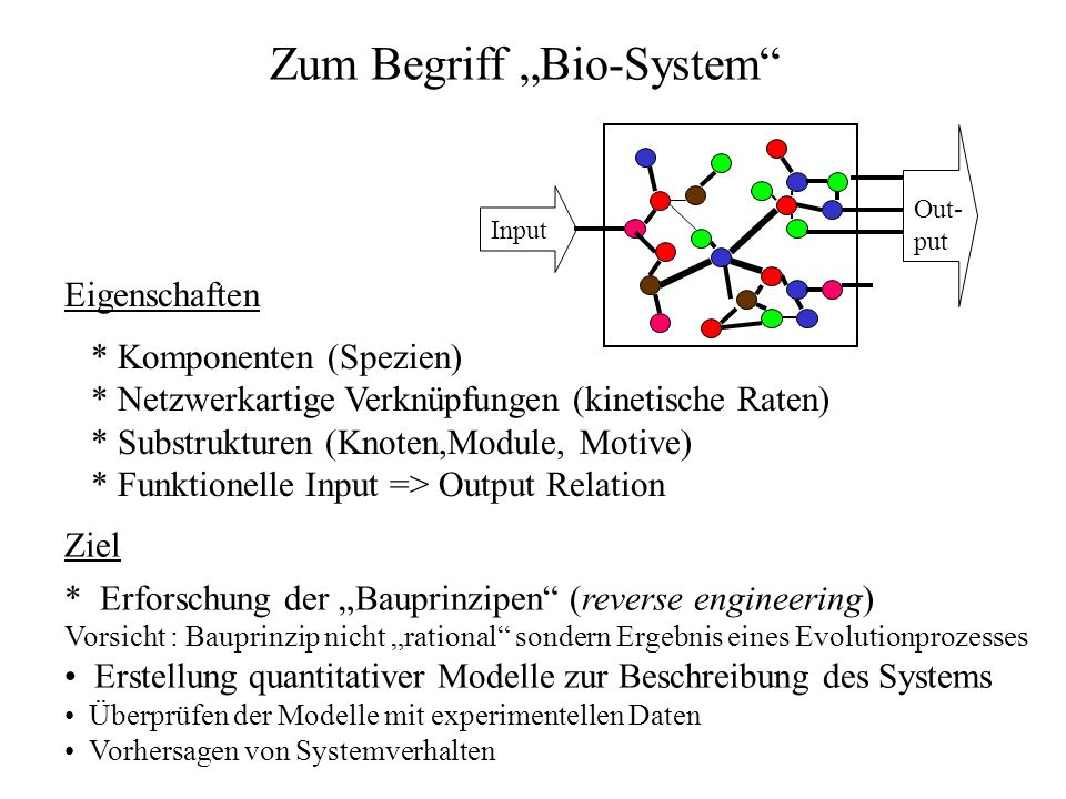 Systems Biology Definition Systems Biology integrates experimental and modeling approaches to study the structure and dynamical properties of biological systems It aims at quantitative experimental results and building predictive models and simulations of these systems.