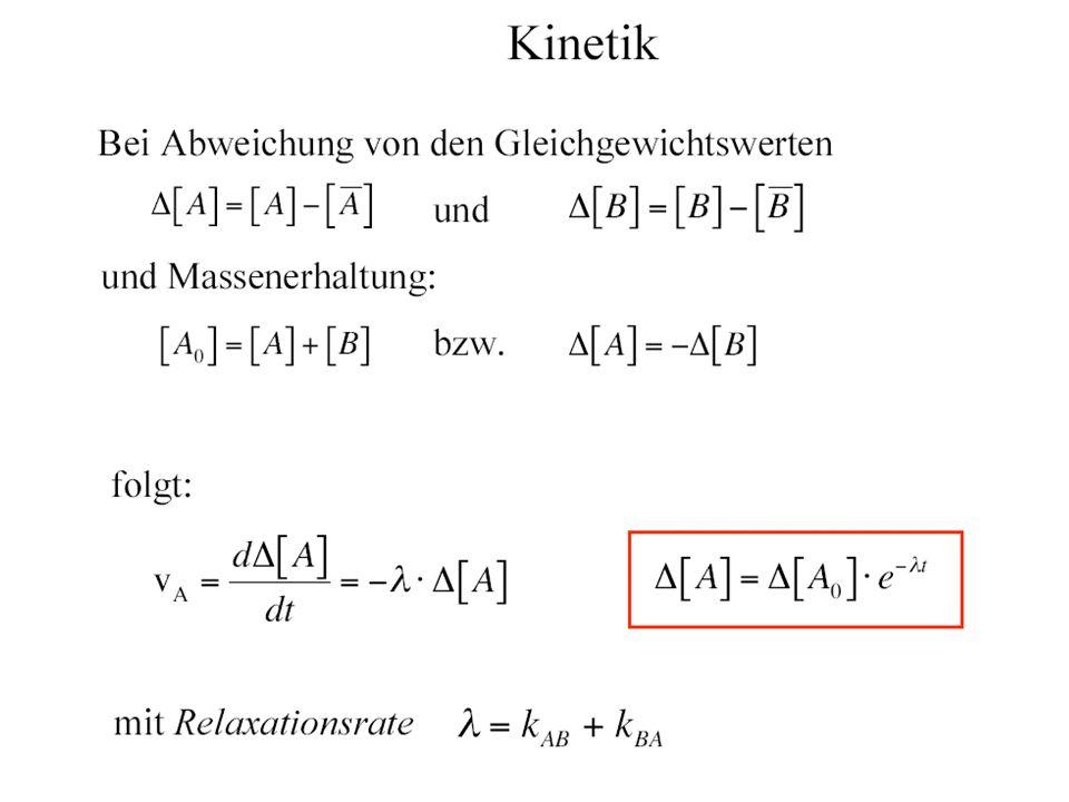 Kooperativität allosterischer Enzyme Michaelis-Menten-Kinetik (n=1) Hill Gleichung Der Hill-Koeffizient wird aus experimentellen Daten v(s) bestimmt durch logarithmische Auftragung: (Hill Plot)