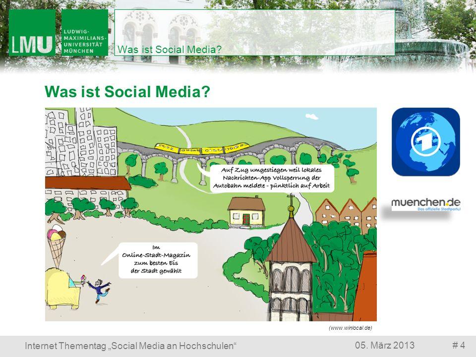 Was ist Social Media? # 405. März 2013 Internet Thementag Social Media an Hochschulen Was ist Social Media? (www.winlocal.de)