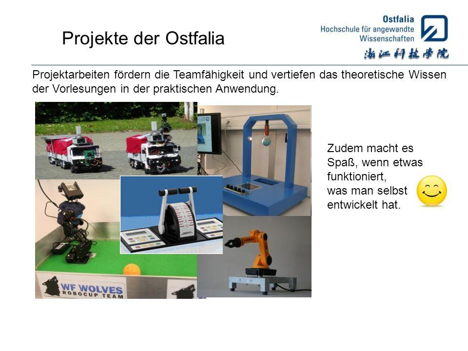 Projekte der Ostfalia Projektarbeiten fördern die Teamfähigkeit und vertiefen das theoretische Wissen der Vorlesungen in der praktischen Anwendung. Zu
