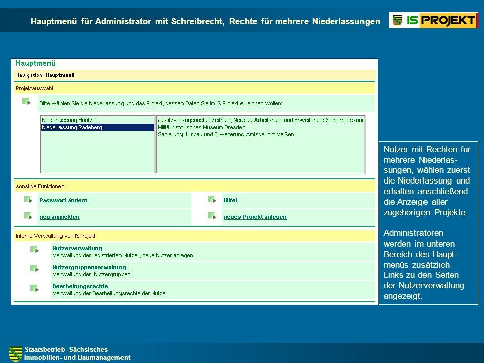 Staatsbetrieb Sächsisches Immobilien- und Baumanagement Statusberichte