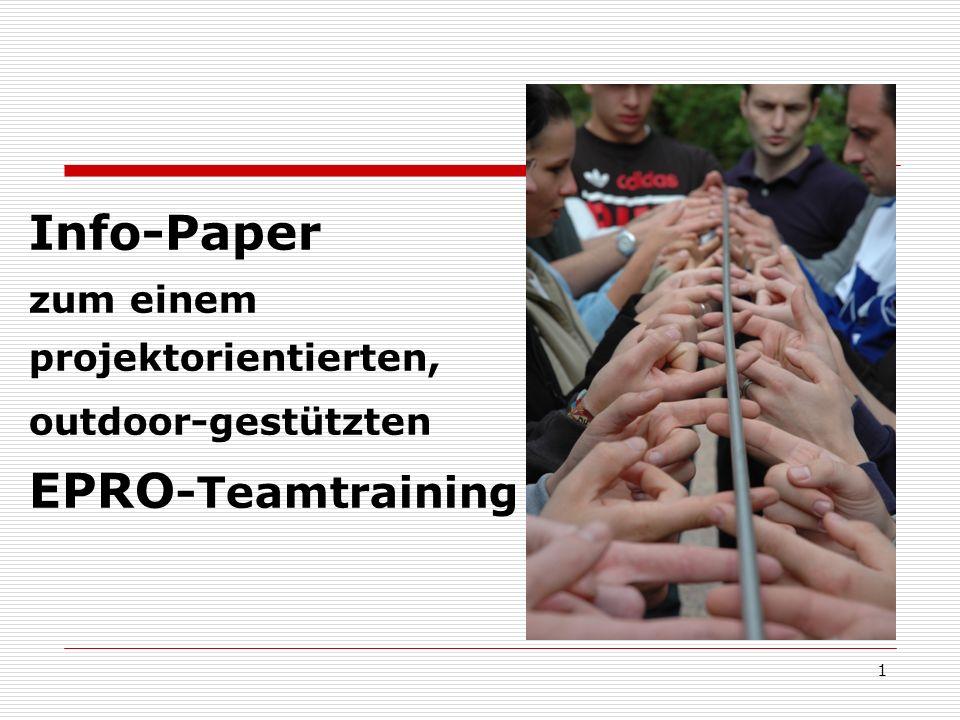 22 Übungsauswertungen im Teamtraining Selbst-/Fremdbeobachtung- sowie Auswertung erfolgen vorrangig nach der Walt Disney Technik Was war für mich in dieser Projekt-/ Teamarbeit förderlich.