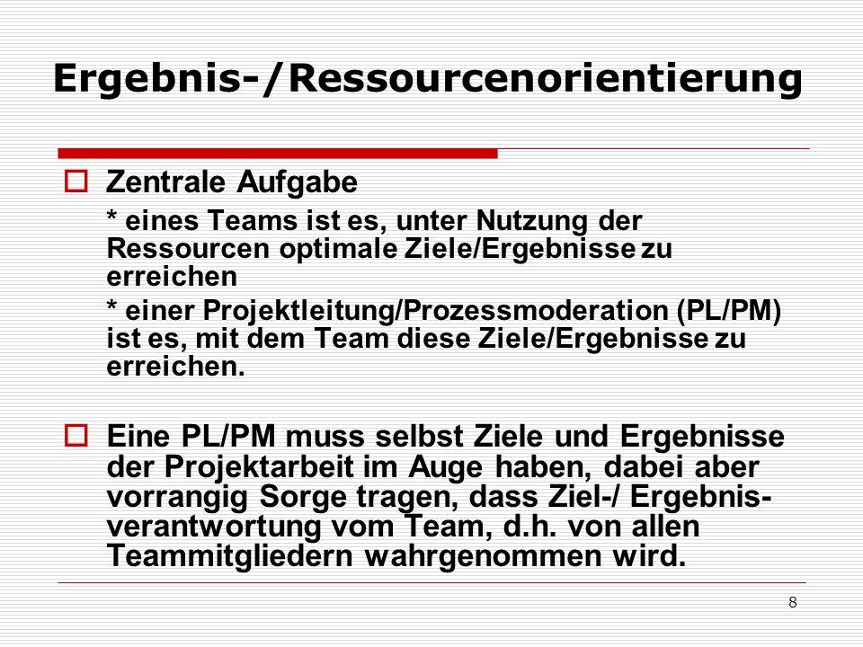 9 Ergebnis-/Ressourcenorientierung