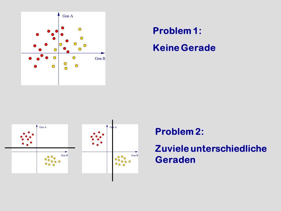 Problem 1: Keine Gerade Problem 2: Zuviele unterschiedliche Geraden
