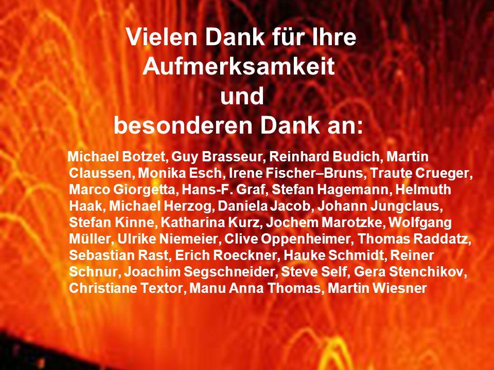 Vielen Dank für Ihre Aufmerksamkeit und besonderen Dank an: Michael Botzet, Guy Brasseur, Reinhard Budich, Martin Claussen, Monika Esch, Irene Fischer