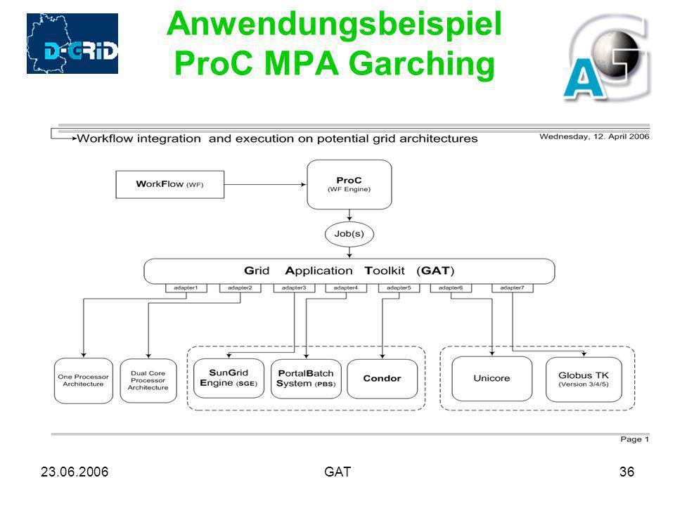 23.06.2006GAT36 Anwendungsbeispiel ProC MPA Garching