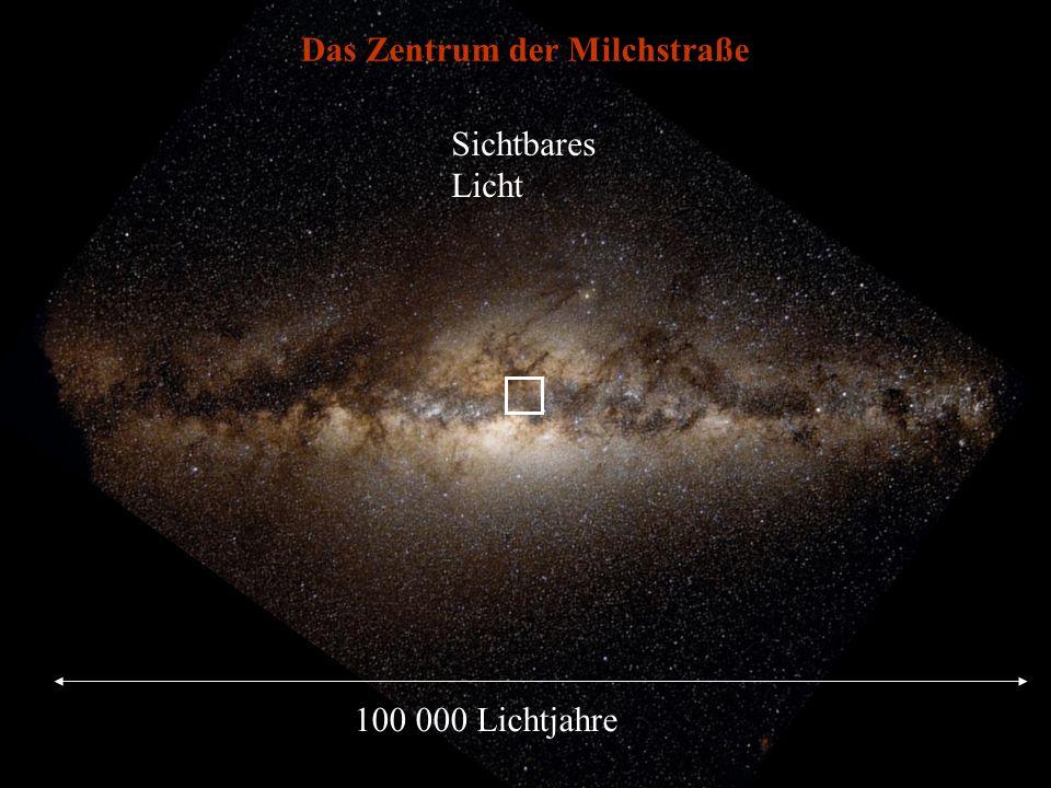 100 000 Lichtjahre Das Zentrum der Milchstraße Sichtbares Licht