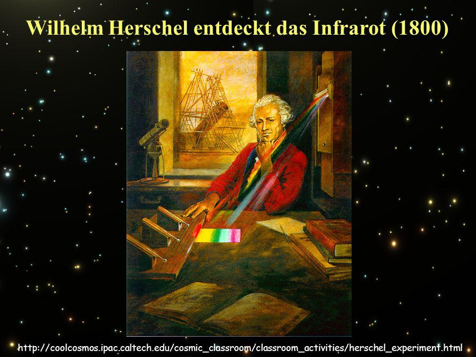 Wilhelm Herschel entdeckt das Infrarot (1800) http://coolcosmos.ipac.caltech.edu/cosmic_classroom/classroom_activities/herschel_experiment.html