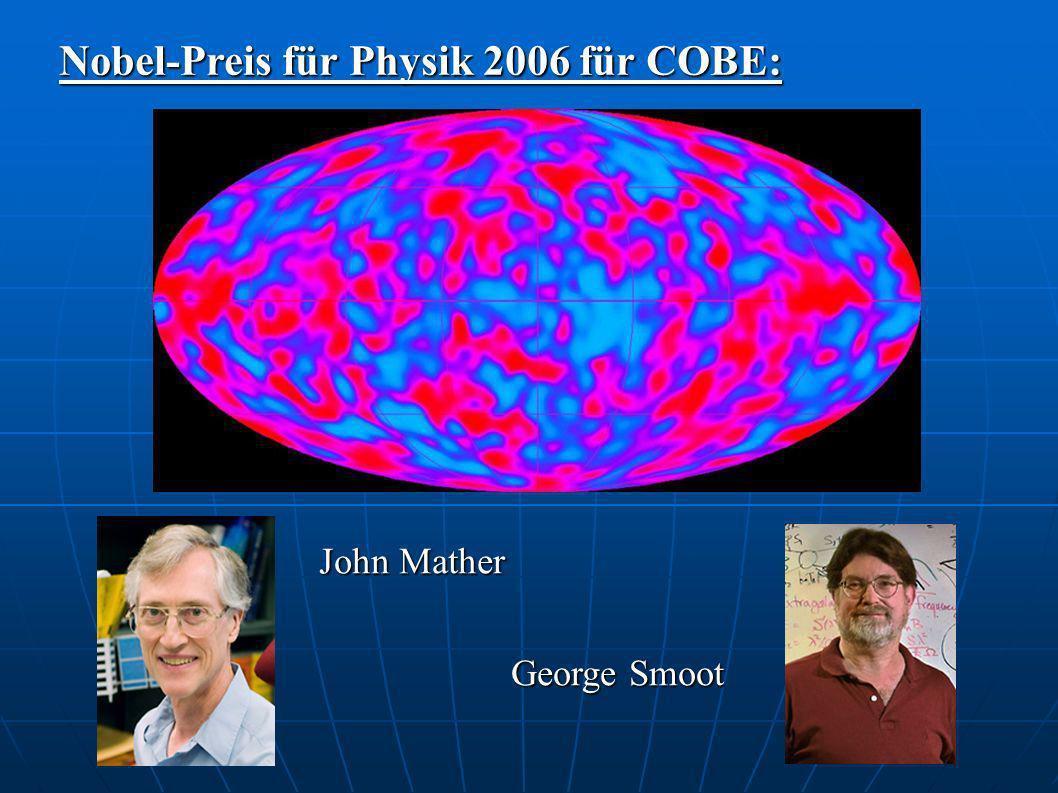Nobel-Preis für Physik 2006 für COBE: John Mather George Smoot