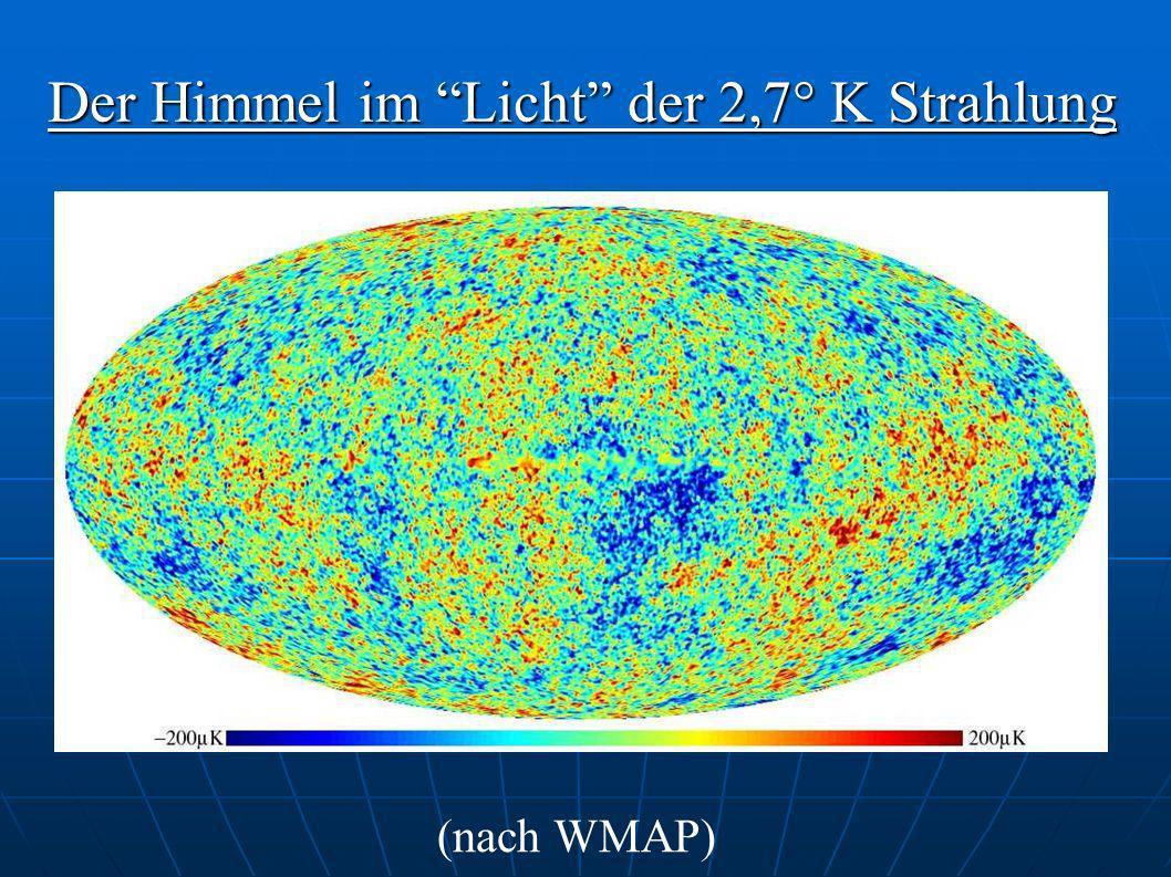 Der Himmel im Licht der 2,7° K Strahlung (nach WMAP)