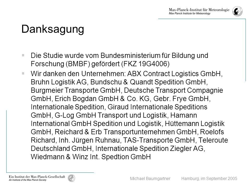 Michael Baumgartner Hamburg, im September 2005 Danksagung Die Studie wurde vom Bundesministerium für Bildung und Forschung (BMBF) gefördert (FKZ 19G40