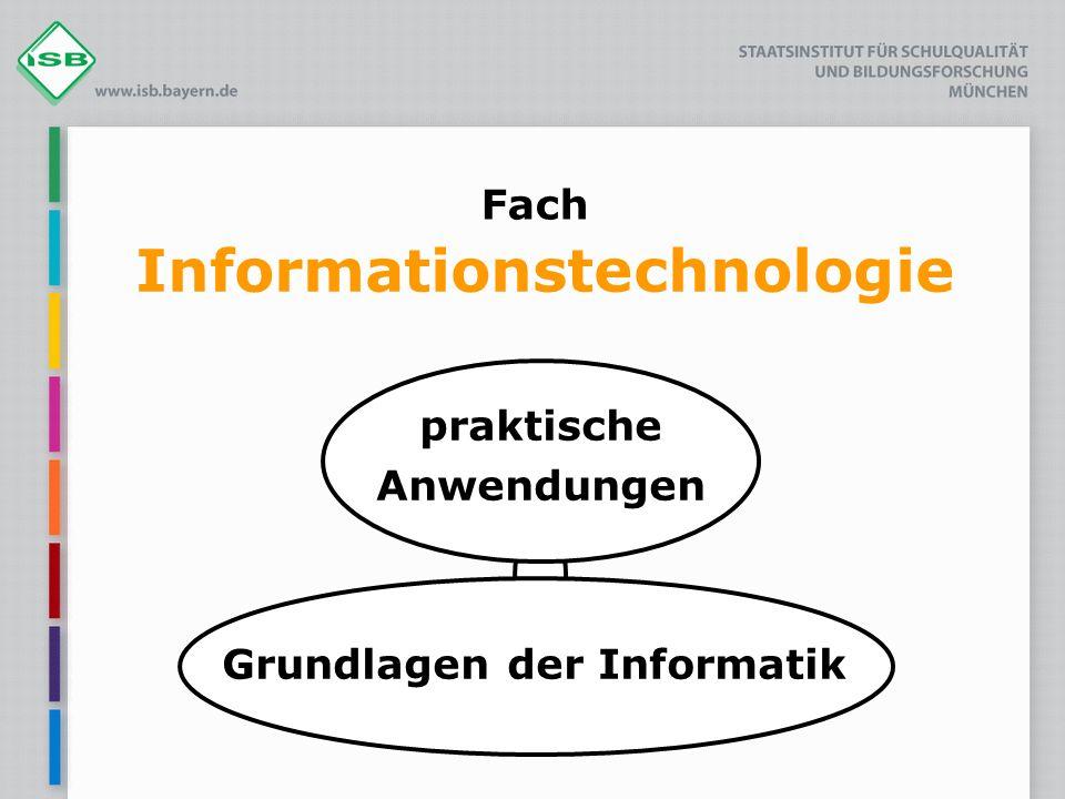 Fach Informationstechnologie praktische Anwendungen Grundlagen der Informatik