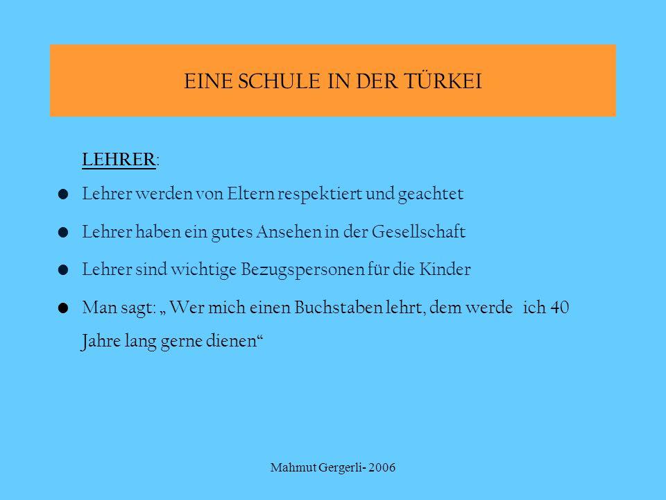 Mahmut Gergerli- 2006 Das bayerische Schulsystem