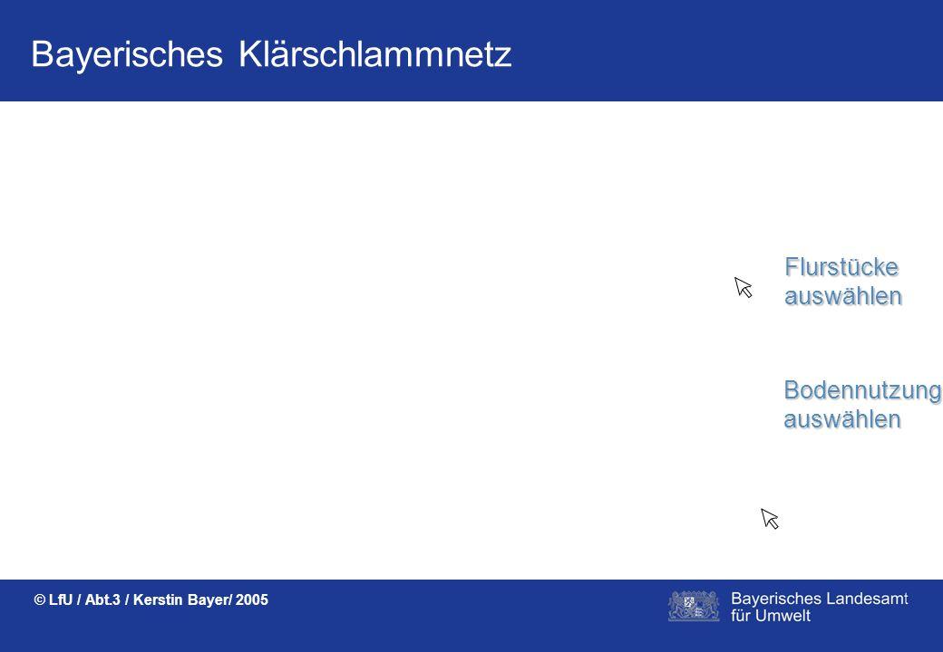 Bayerisches Klärschlammnetz © LfU / Abt.3 / Kerstin Bayer/ 2005 Voranzeigen können durch EINFACHES AUSWÄHLEN aus Stammdaten erstellt werden. UDIS-RO-K