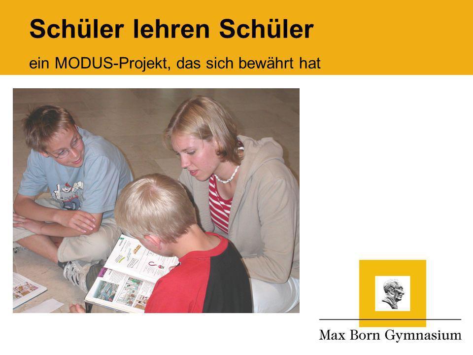 a a Schüler lehren Schüler ein MODUS-Projekt, das sich bewährt hat