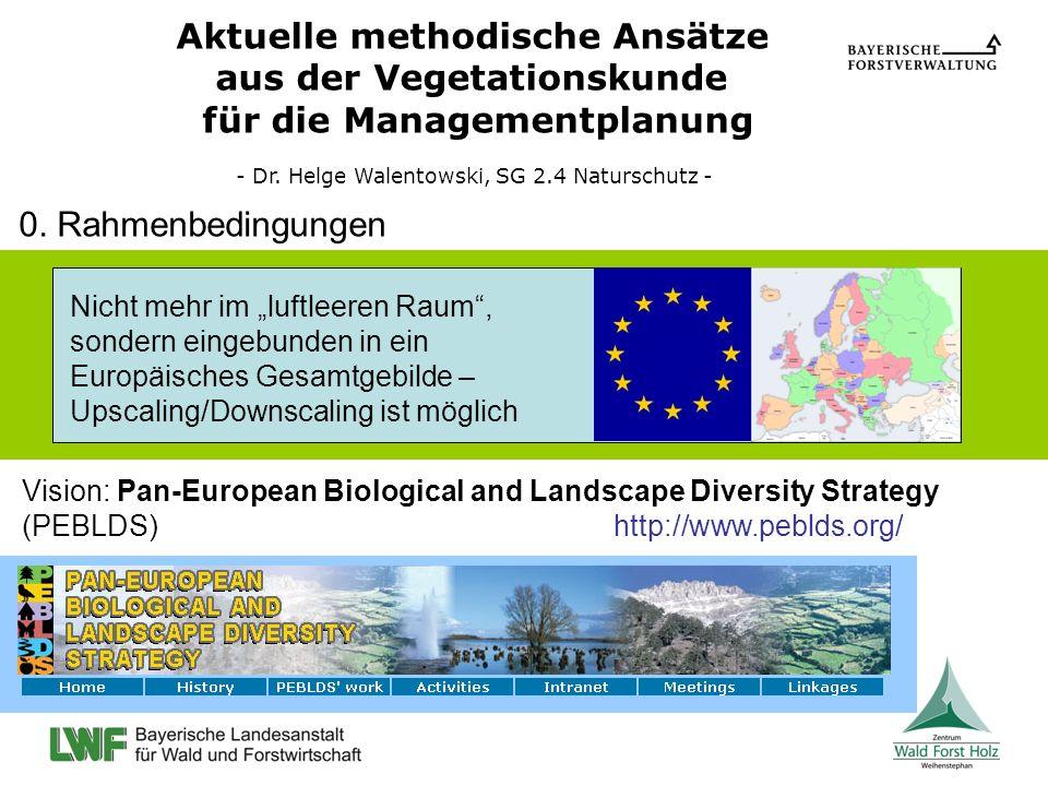 Aktuelle methodische Ansätze aus der Vegetationskunde für die Managementplanung - Dr. Helge Walentowski, SG 2.4 Naturschutz - Vision: Pan-European Bio