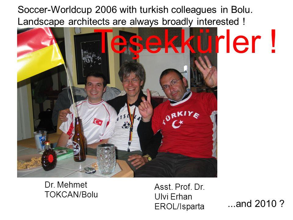 Dr. Mehmet TOKCAN/Bolu Asst. Prof. Dr. Ulvi Erhan EROL/Isparta Soccer-Worldcup 2006 with turkish colleagues in Bolu. Landscape architects are always b