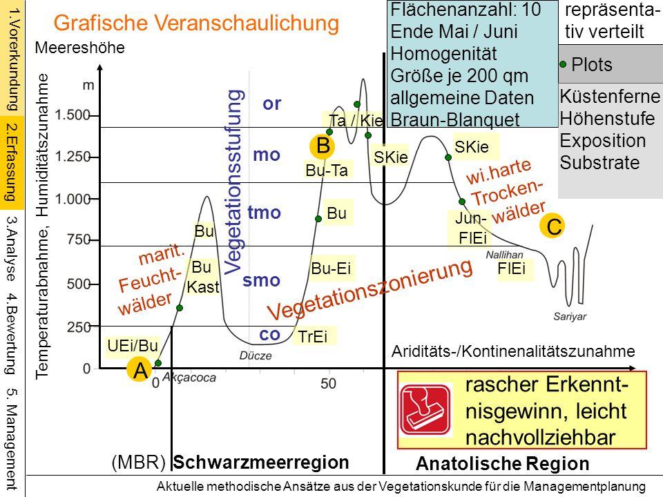 UEi/Bu Ta / Kie Bu-Ta TrEi Schwarzmeerregion Anatolische Region Ariditäts-/Kontinenalitätszunahme Bu C Kast Bu (MBR) Aktuelle methodische Ansätze aus