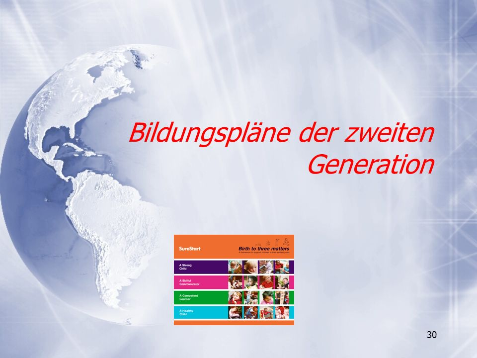 30 Bildungspläne der zweiten Generation