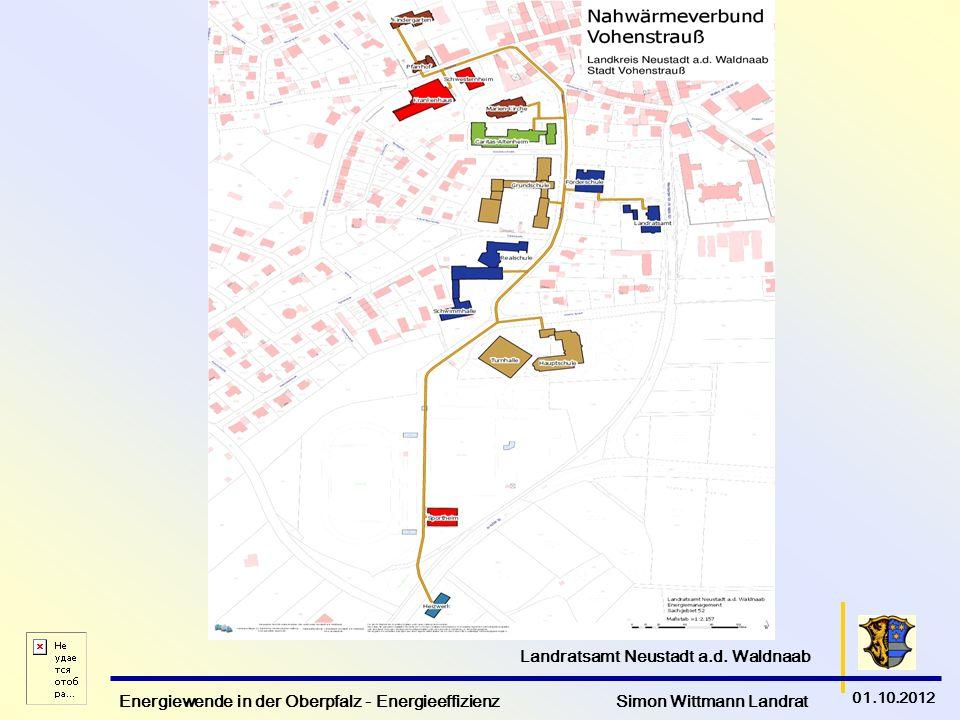 Energiewende in der Oberpfalz - Energieeffizienz Simon Wittmann Landrat 01.10.2012 Landratsamt Neustadt a.d.
