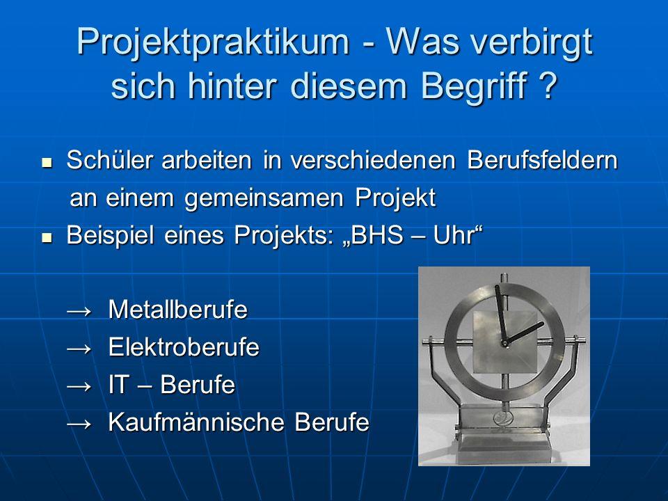 Projektpraktikum - Was verbirgt sich hinter diesem Begriff .