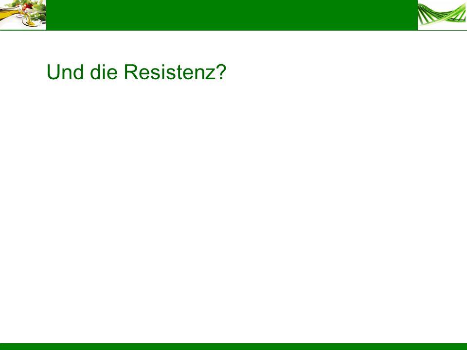 Und die Resistenz?