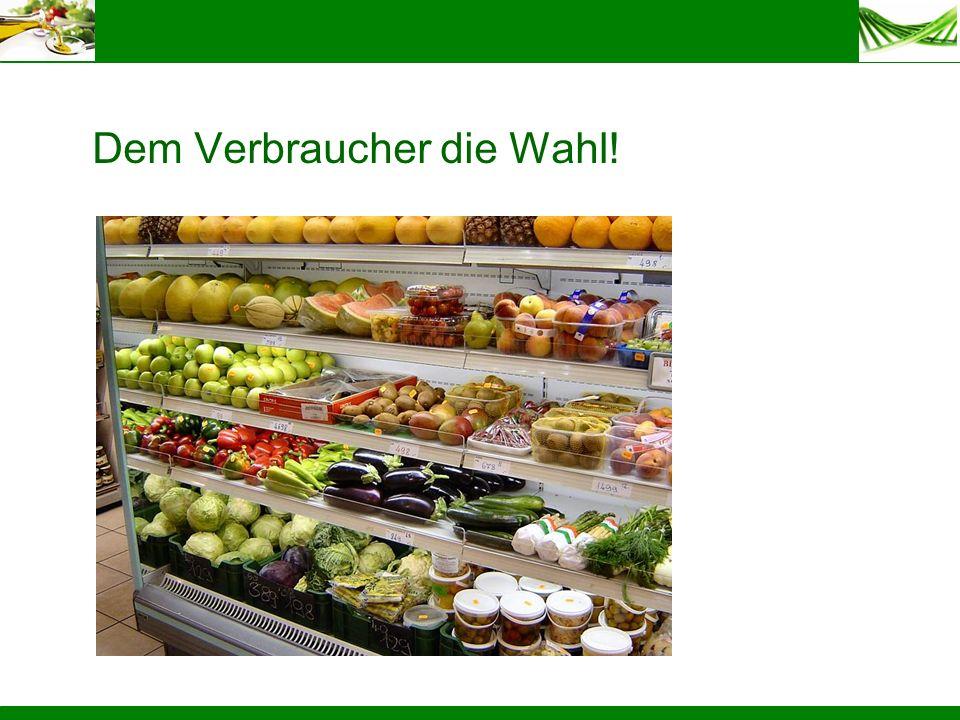 Dem Verbraucher die Wahl!