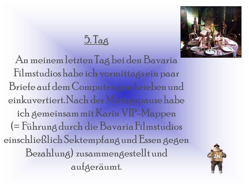 Heute Vormittag standen zwei wichtige Meetings an. Im ersten, ( 10 : 00 Uhr) ging es über Werbung der Bavaria Filmstudios in Zeitschriften und im Fern