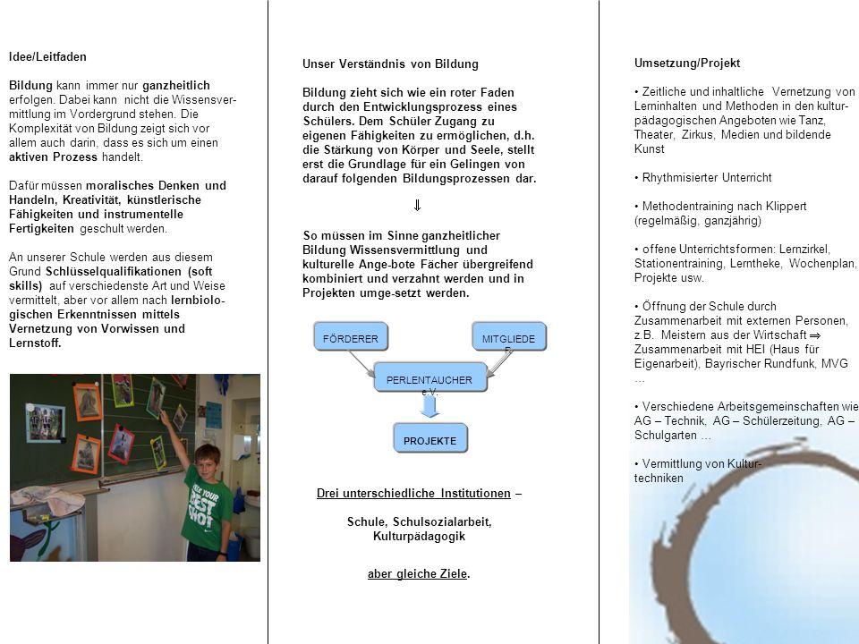 Seite 4 Idee/Leitfaden Bildung kann immer nur ganzheitlich erfolgen.