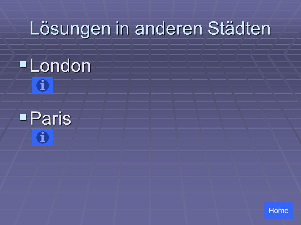 Lösungen in anderen Städten London London Paris Paris Home