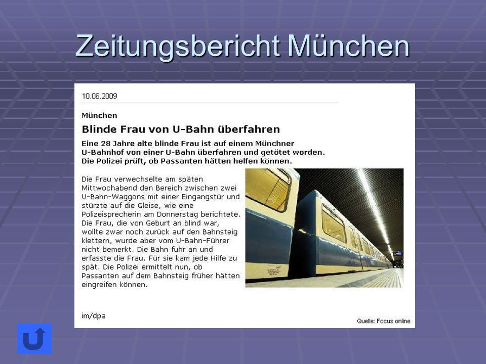 Zeitungsbericht München
