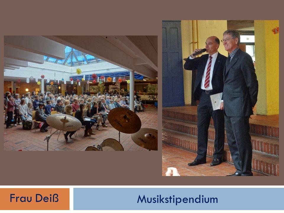 Musikstipendium Frau Deiß