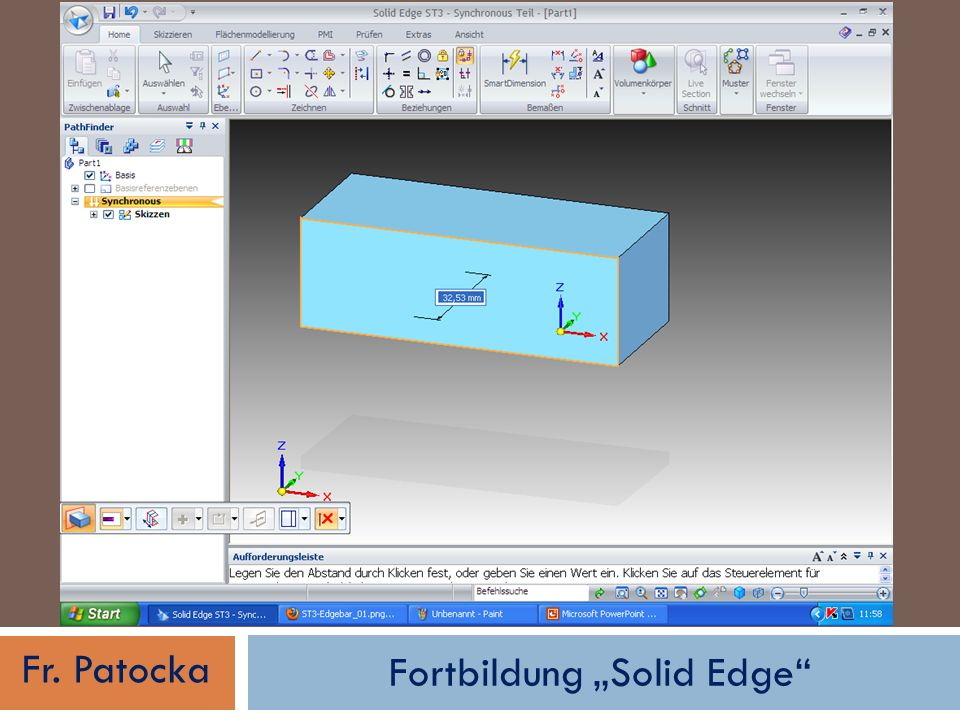 Fortbildung Solid Edge Fr. Patocka